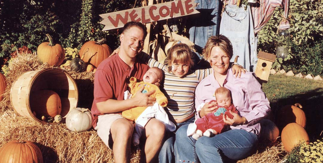 The Coleman family at the pumpkin patch in 2004.